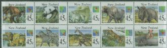 NZ SG1820a Stamp Month, Wild Animals block of 10